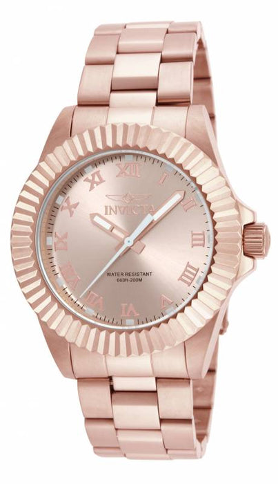 Invicta Men's 16738 Pro Diver Quartz 3 Hand Rose Gold Dial Watch