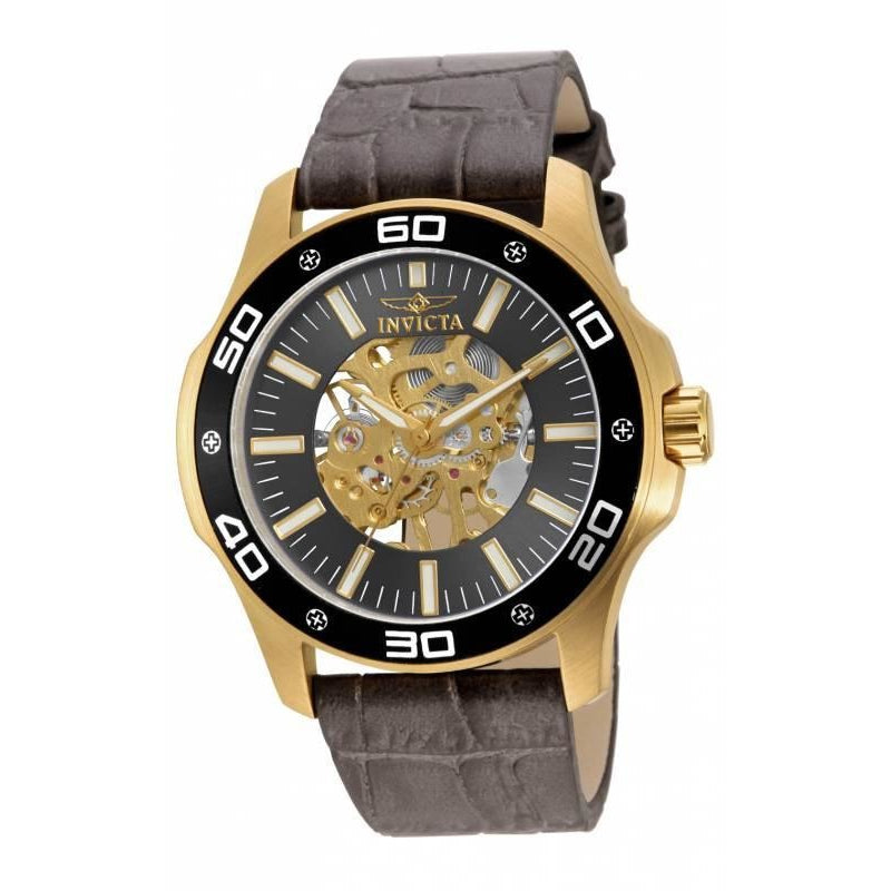 Invicta Men's 17261 Specialty Mechanical 3 Hand Black Dial Watch