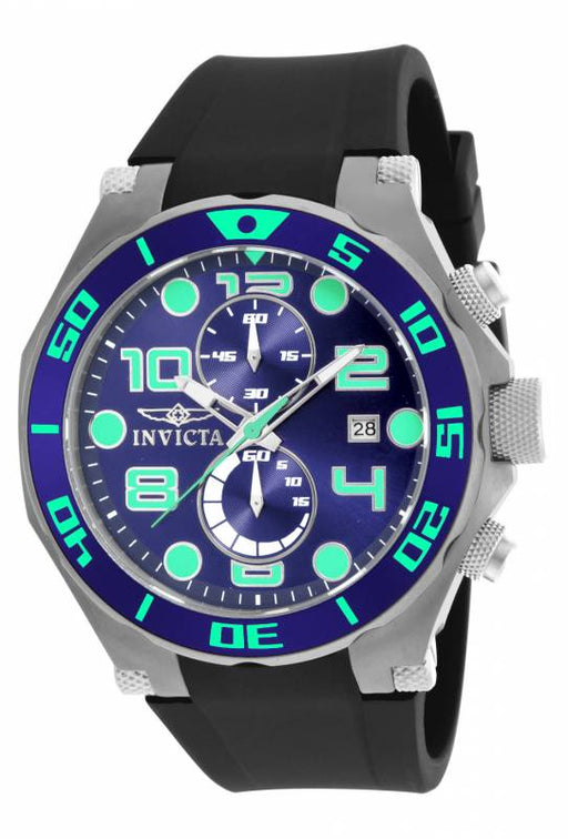 Invicta Men's 17813 Pro Diver Quartz Multifunction Blue Dial Watch