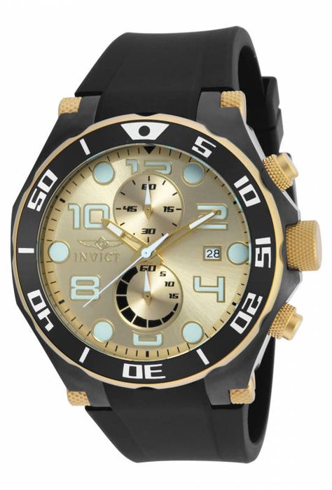 Invicta Men's 17815 Pro Diver Quartz Multifunction Gold Dial Watch