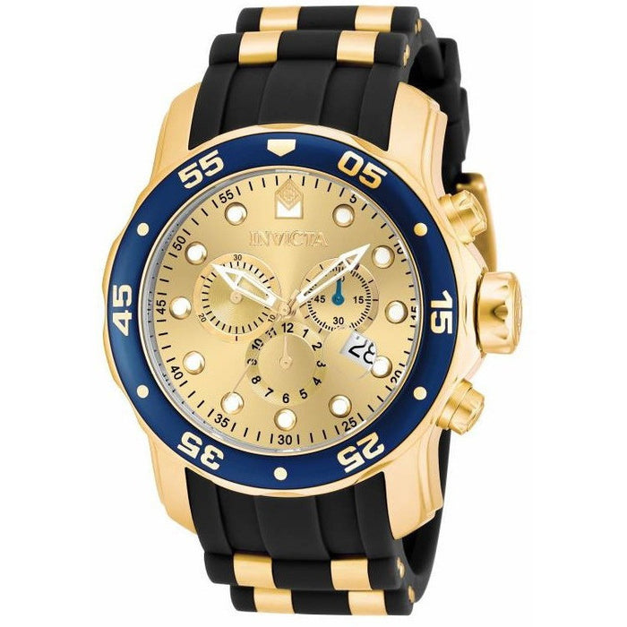 Invicta Men's 17881 Pro Diver Quartz Multifunction Gold Dial Watch