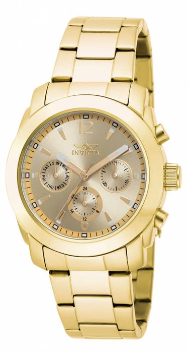 Invicta Women's 17901 Angel Quartz Multifunction Gold Dial Watch