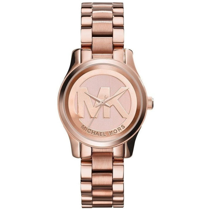 Michael Kors Women's Mini Runway Rose Gold-tone Stainless Steel Watch Mk3334
