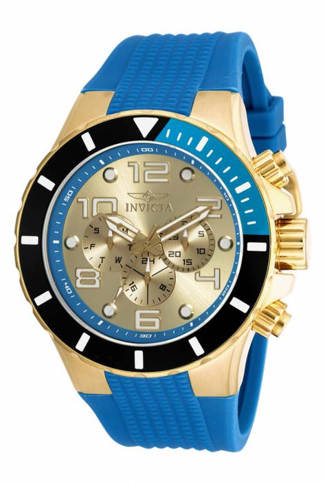 Invicta Men's 18740 Pro Diver Quartz Chronograph Gold Dial Watch