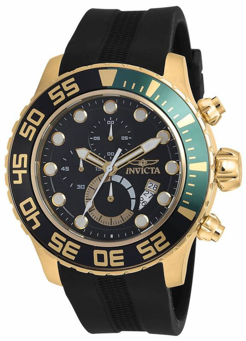 Invicta Men's 19245 Pro Diver Quartz Multifunction Black Dial Watch