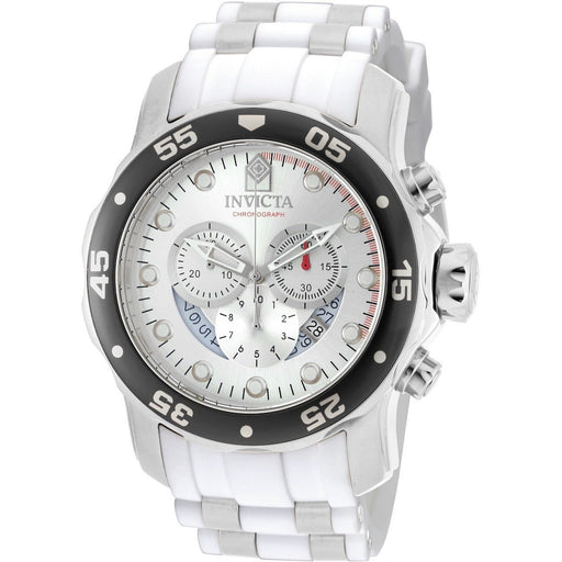 Invicta Men's Pro Diver Quartz Chronograph Silver Dial Watch 20290