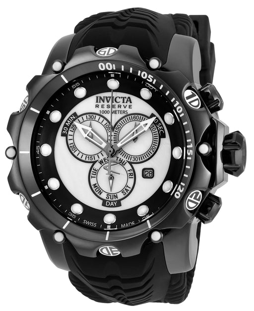 Invicta Men's 20398 Venom Quartz Chronograph White, Black Dial Watch