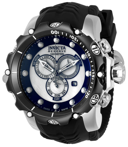 Invicta Men's 20403 Venom Quartz Chronograph White, Black Dial Watch