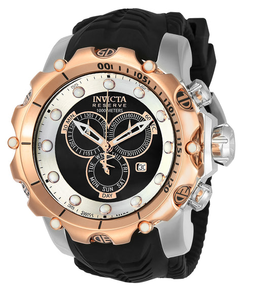 Invicta Men's 20408 Venom Quartz Chronograph Black, Silver Dial Watch