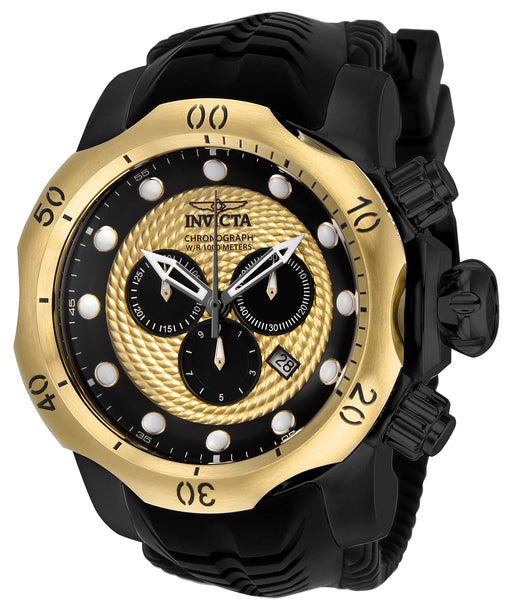 Invicta Men's 20444 Venom Quartz Chronograph Gold, Black Dial Watch
