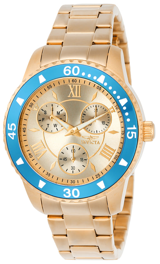 Invicta Women's 21769 Angel Quartz Chronograph Rose Gold Dial Watch