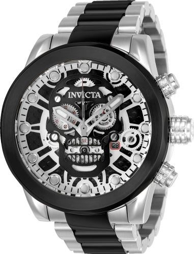 Invicta Men's 21884 Corduba Quartz 3 Hand Gunmetal, Silver, Black Dial Watch