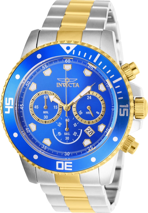 Invicta Men's 21892 Pro Diver Quartz Chronograph Blue Dial Watch