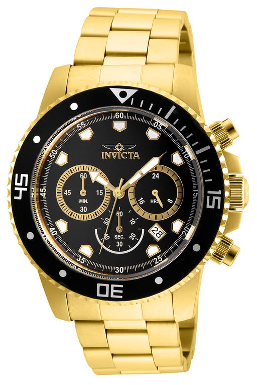 Invicta Men's 21893 Pro Diver Quartz Chronograph Black Dial Watch