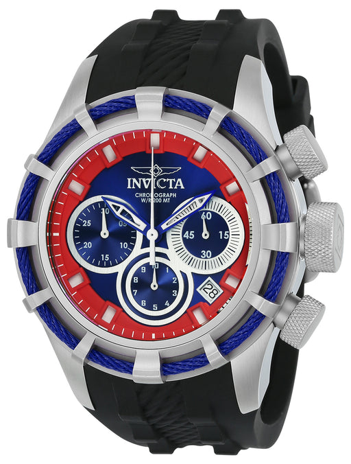 Invicta Men's 22155 Bolt Quartz Chronograph Blue, Red Dial Watch