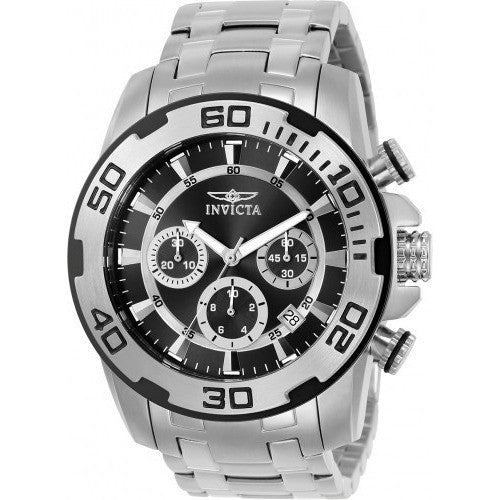 invicta men s 22318 pro diver quartz chronograph black dial watch