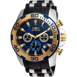 Invicta Men's 22339 Pro Diver Quartz Chronograph Blue Dial Watch