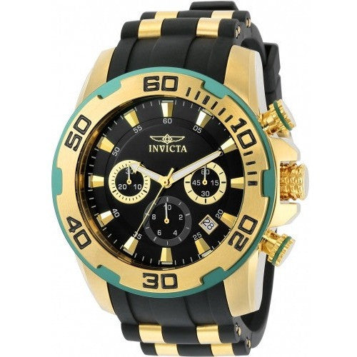 Invicta Men's 22347 Pro Diver Quartz Chronograph Black Dial Watch