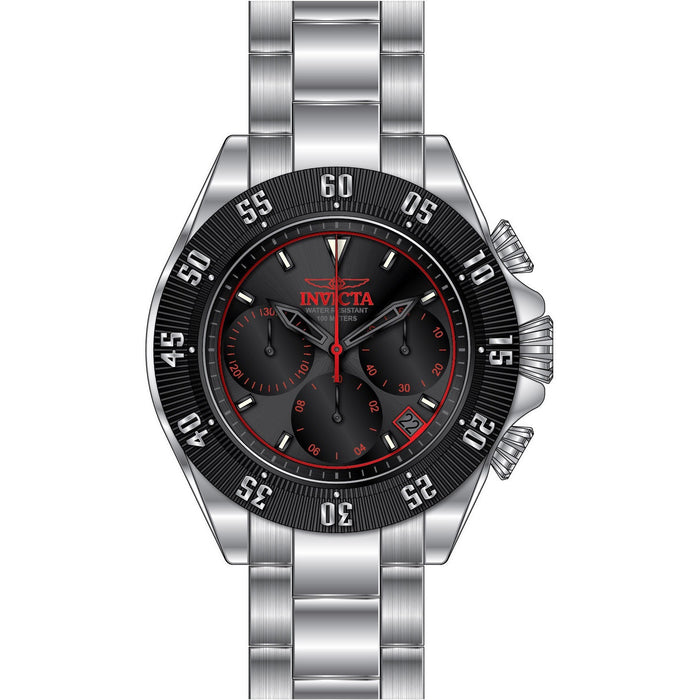 Invicta Men's 22395 Speedway Quartz Chronograph Gunmetal, Black, Red Dial Watch