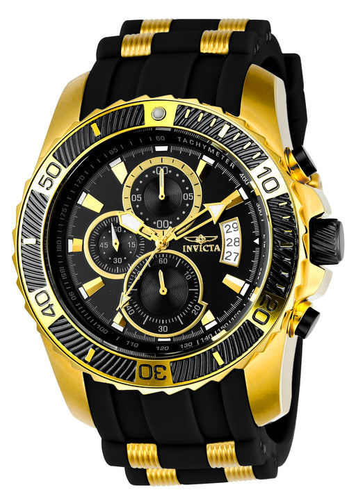 Invicta Men's 22430 Pro Diver Quartz Multifunction Black Dial Watch