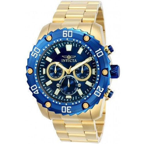Invicta Men's 22518 Pro Diver Quartz Chronograph Blue Dial Watch