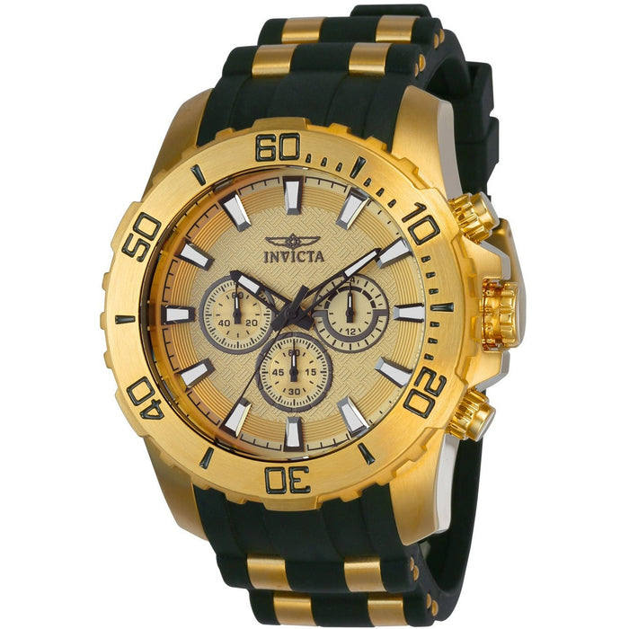 Invicta Men's 22558 Pro Diver Quartz Chronograph Gold Dial Watch