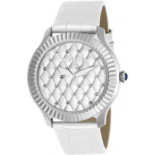 Invicta Women's Angel Quartz 3 Hand Silver Dial Watch 22561