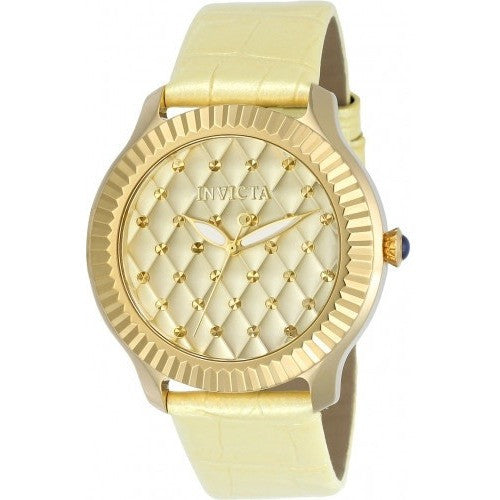 Invicta Women's 22562 Angel Quartz 3 Hand Gold Dial Watch