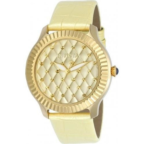 Invicta Women's Angel Quartz 3 Hand Gold Dial Watch 22562
