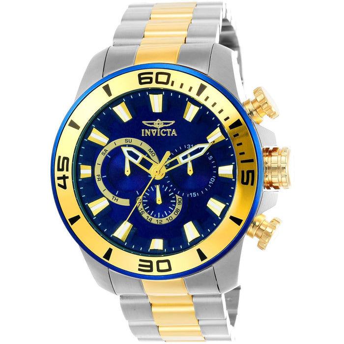 Invicta Men's 22591 Pro Diver Quartz Chronograph Blue Dial Watch