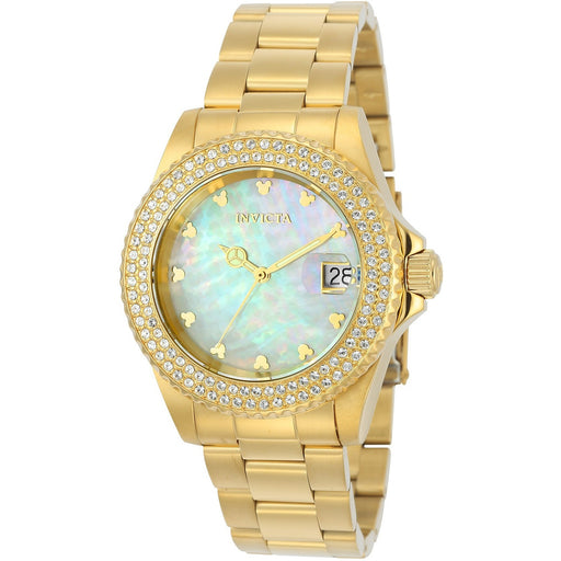 Invicta Women's 22731 Disney Quartz 3 Hand White Dial Watch