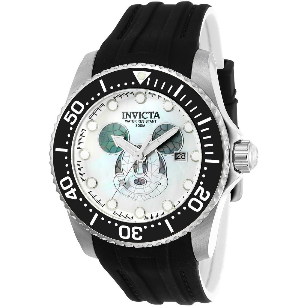 Invicta Men's 22748 Disney Automatic 3 Hand White, Black Dial Watch