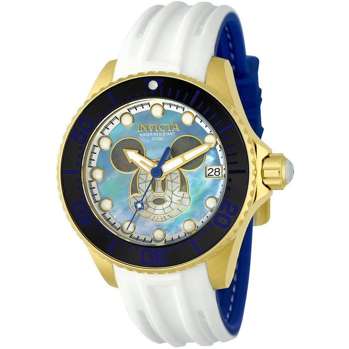 Invicta Women's 22754 Disney Automatic 3 Hand Blue, Black, White Dial Watch