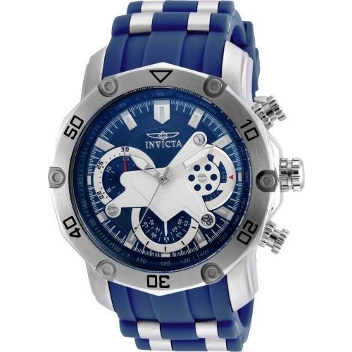 Invicta Men's 22796 Pro Diver Quartz 3 Hand Blue Dial Watch