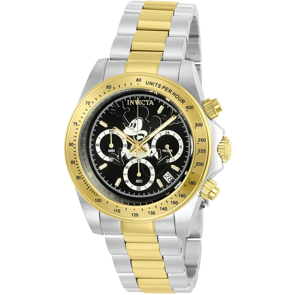 Invicta Men's 22866 Disney Quartz 3 Hand Black Dial Watch