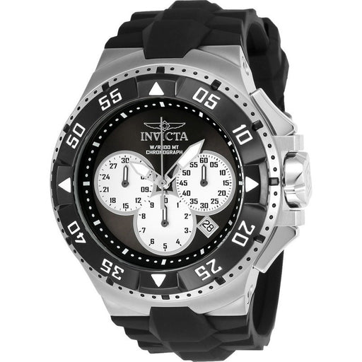 Invicta Men's 23045 Excursion Quartz Chronograph Black, Silver Dial Watch