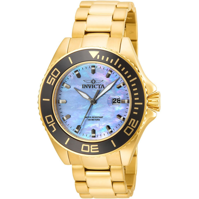 Invicta Men's 23071 Pro Diver Quartz 3 Hand Platinum Dial Watch