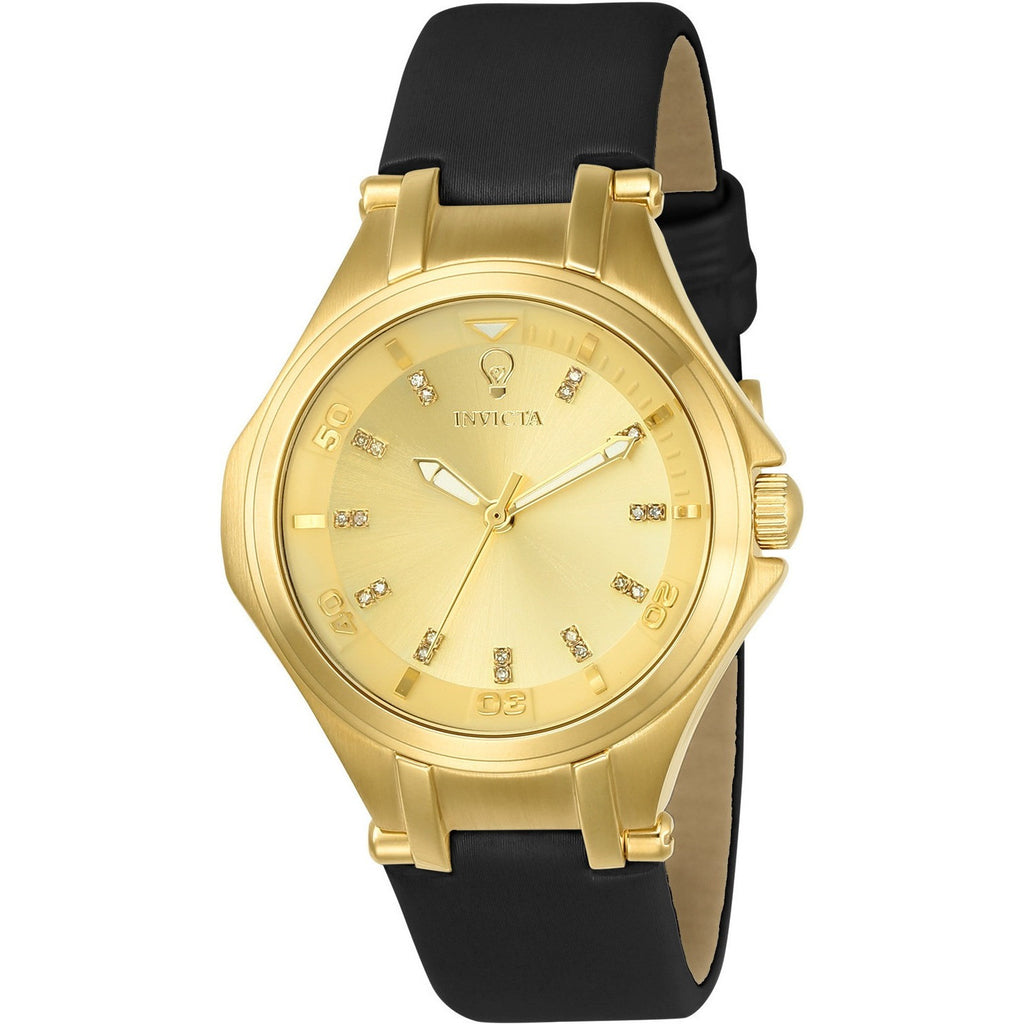 Invicta Women's 23256 Gabrielle Union Quartz 3 Hand Gold Dial Watch