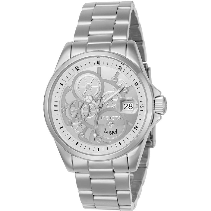 Invicta Women's 23567 Angel Quartz 3 Hand Silver Dial Watch
