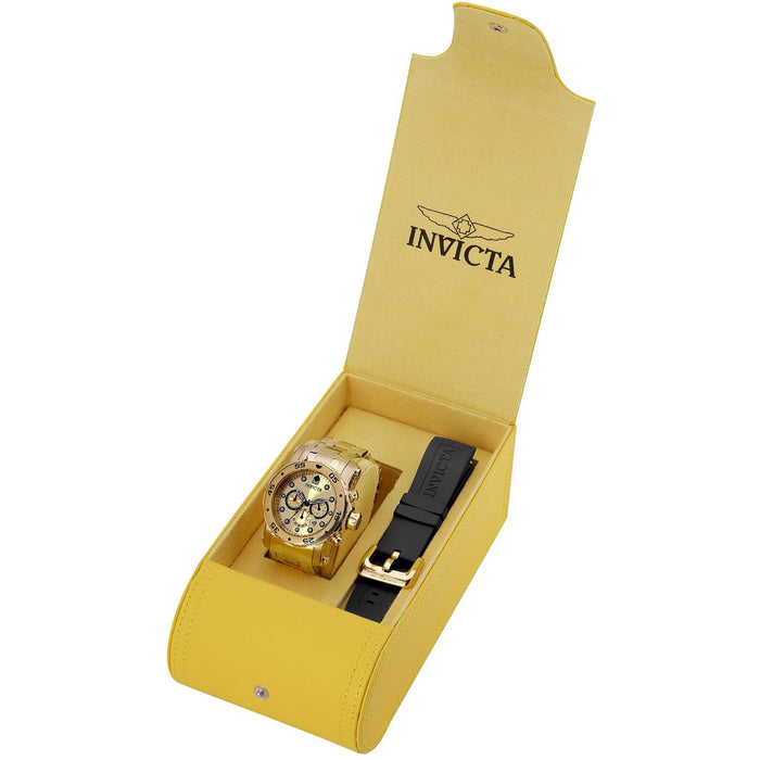 Invicta Men's 23652 Pro Diver Quartz Chronograph Gold Dial Watch