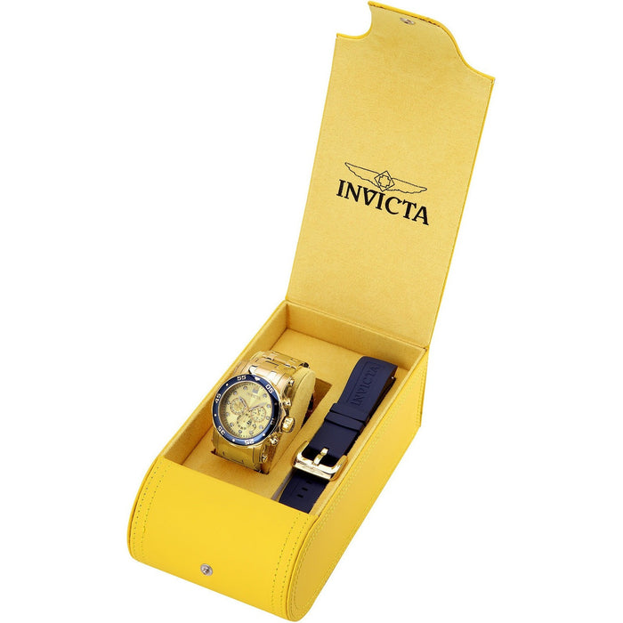 Invicta Men's 23669 Pro Diver Quartz Chronograph Champagne Dial Watch