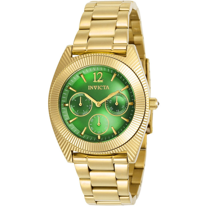 Invicta Women's 23749 Angel Quartz Chronograph Green Dial Watch