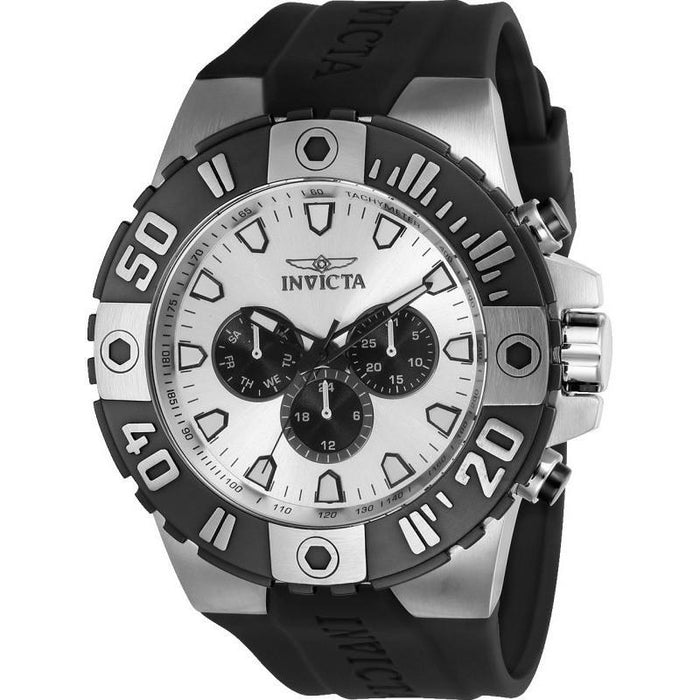 Invicta Men's 23969 Pro Diver Quartz Multifunction Silver Dial Watch