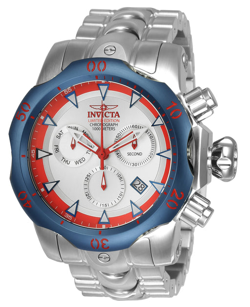 Invicta Men's 24246 Venom Quartz Chronograph Silver Dial Watch