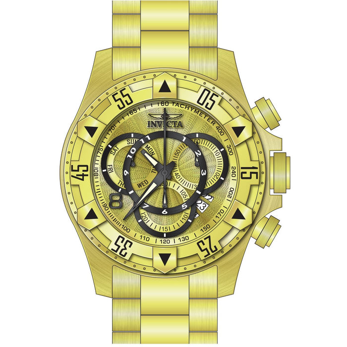 Invicta Men's 24263 Excursion Quartz Multifunction Gold Dial Watch