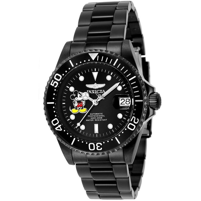 Invicta Men's 24416 Disney  Automatic 3 Hand Black Dial Watch