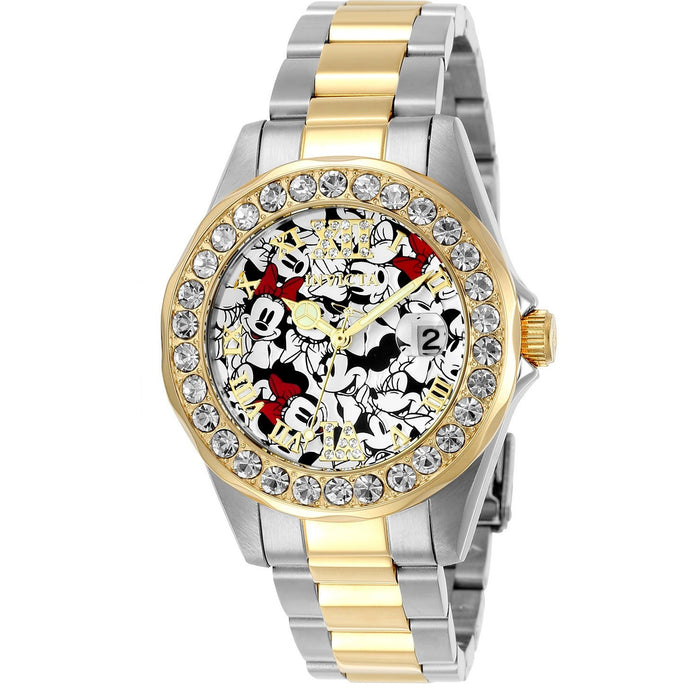Invicta Women's 24418 Disney  Quartz 3 Hand Black, Red, White Dial Watch