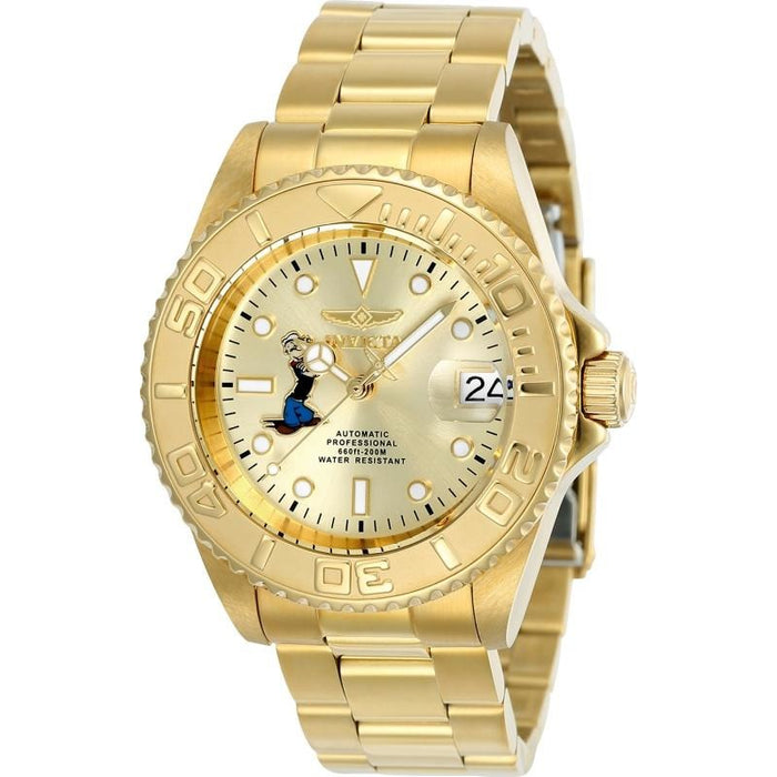 Invicta Men's 24489 Character  Automatic 3 Hand Champagne Dial Watch