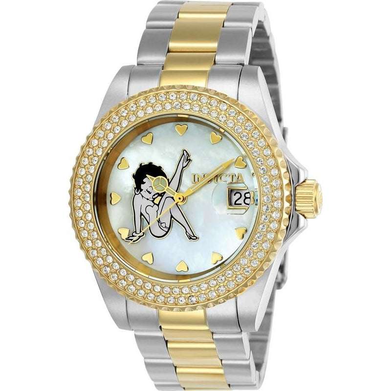 Invicta Women's 24493 Character  Quartz 3 Hand White Dial Watch