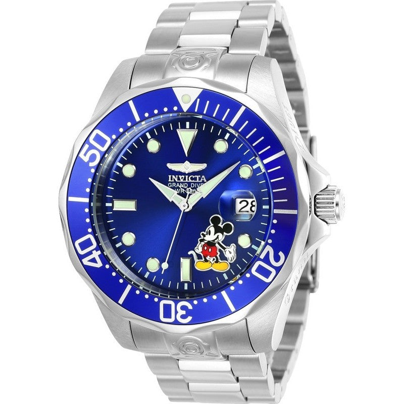 Invicta Men's 24497 Disney Automatic 3 Hand Blue Dial Watch